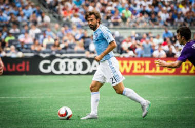 Andrea Pirlo in play with New York City FC. Photo courtesy of NYCFC.COM