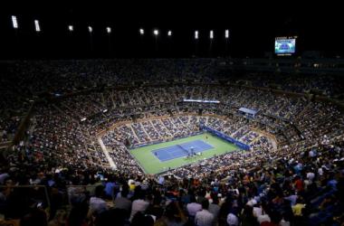 Imagen de la pista central durante la jornada inaugural. (Foto: US Open).