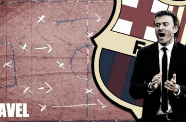 La pizarra: un Barça ansioso