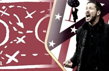 La pizarra de Simeone: un Atlético convincente