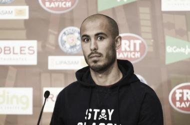 Guido Pizarro en la sala de prensa del Ramón Sánchez - Pizjuán | Foto: SFC