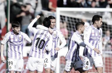 Plano celebrando el gol ante el Celta con sus compañeros   Foto: LaLigaSantander