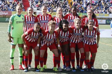 El equipo posa sonriente antes del partido ante el Granadilla Tenerife. Foto: LaLiga
