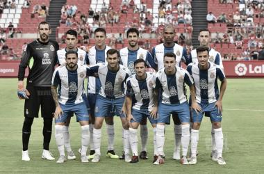 Once del Espanyol en el partido de pretemporada ante el Nástic. Foto: Vavel (Tomás Rubia)