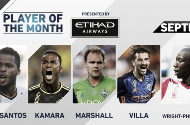 Etihad Airways Player of the Month nominees announced for September | Source: mlssoccer.com