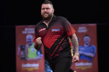 Michael Smith out with a point to prove. (Photo: PDC)