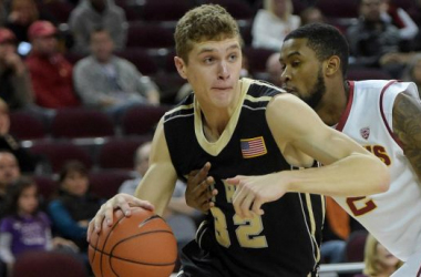 Tanner Plomb (26 points, 7 rebounds) led the Army Black Knights to an important 68 - 66 win over the American University Eagles on Monday night. (Source: Associated Press)