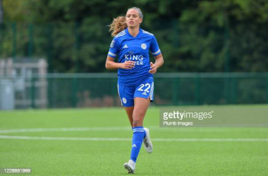 Ashleigh Plumptre playing for Leicester City Women in the FA Women's Championship 2020 (Picture credit - Getty Images)