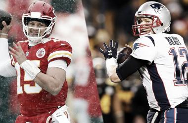 Patrick Mahomes y Tom Brady se enfrentarán por primera vez en una final de conferencia (foto NFL.com)