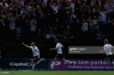 Tom Clarke of Preston North End celebrates after scoring the winning goal during the Capital One Cup first round match between Preston North End and Blackpool at Deepdale on August 5, 2013 in Preston, Lancashire. (Photo by Clive Brunskill/Getty Images)