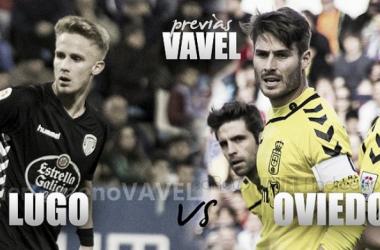 CD Lugo - Real Oviedo: tres puntos que valen un playoff. (Fotomontaje VAVEL, Fotos: www.laliga.es)