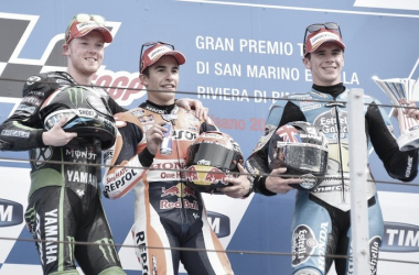 Podio Misano 2015. Foto: MotoGP