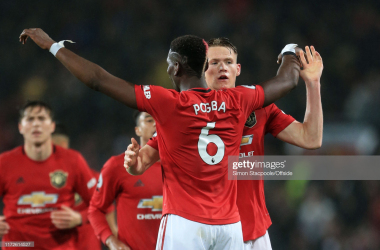 Paul Pogba and Scott McTominay in Manchester United's 1-1 draw with Arsenal on September 30.
