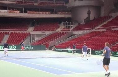 The surface at the Ergo Arena in Poland. Photo: tenis Polski