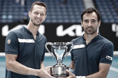 Dodig/Polasek venceram Ram/Salisbury no Australian Open 2021 (ATP / Divulgação)