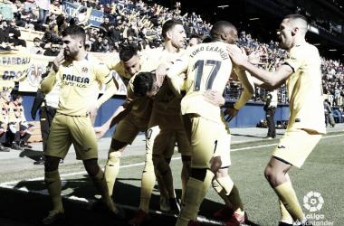 Villarreal celebrando un gol // Foto: La Liga