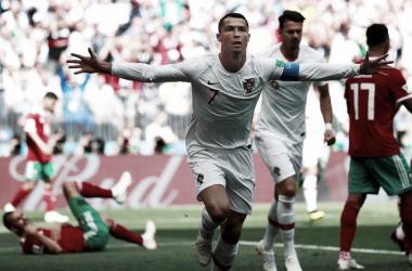 Celebración del gol de Cristiano Ronaldo // Foto: Fh futbol