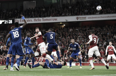 Giroud anota el gol de la victoria para el Arsenal en su último partido en casa frente al Leicester | Fotografía: Arsenal