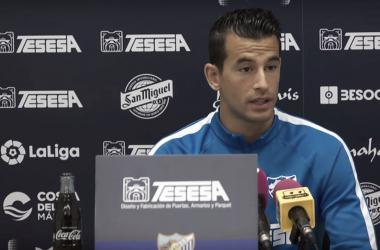 Luis Hernández, en rueda de prensa | Málaga