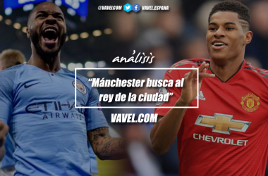 Manchester City vs Manchester United./ Fotomontaje: Javier Jábega