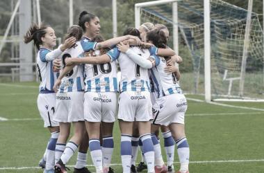 La Real Sociedad celebra un gol. // Foto: Real Sociedad