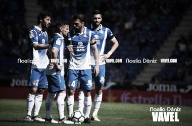 Jugadores del Espanyol en su último encuentro en casa. Foto: Noelia Déniz.