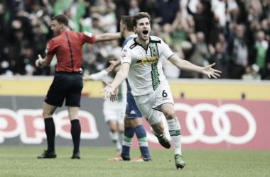 Nordtveit celebra el primer gol || Imagen: borussia.de