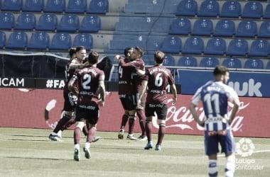 Los jugadores del Celta forman una piña para celebrar uno de los goles | Imagen: LaLiga