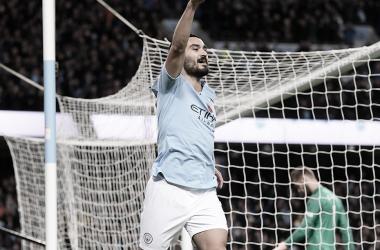 Gundogan celebrando un gol en el Etihad | Fuente: PremierLeague