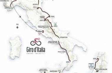 Recorrido oficial del Giro d'Italia 2018 / Fuente: @giroditalia
