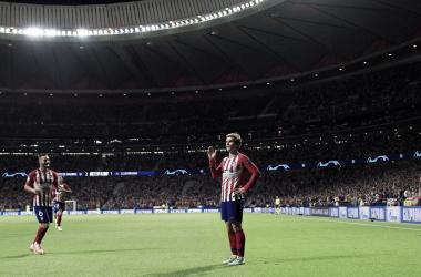 Griezmann quiere seguir imponiendo su ley en Champions. Fuente: Atlético de M.