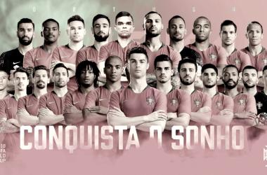 Os 23 jogadores convocados para a Copa do Mundo (Foto:Divulgação/Portugal)