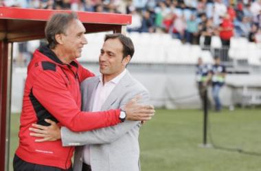 Portugal saludó a Fran Fernñandez antes del partido. Foto: La Liga