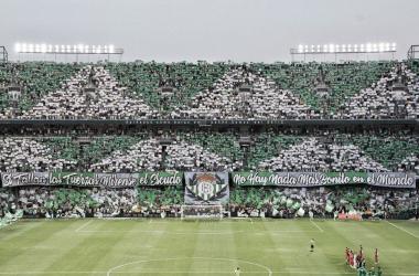 La incansable afición bética en el encuentro que enfrentó a Betis y Sevilla en el Benito Villamarín el pasado domingo.Foto: Real Betis oficial