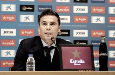 "Joan Francesc Ferrer ""Rubi"" durante la rueda de prensa. Foto: RCD Espanyol"