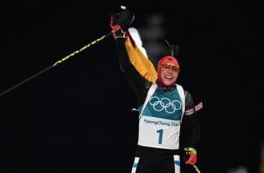 Laura Dahlmeier, championne olympique de la poursuite