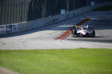 Will Power during Tuesday's Road America test. Photo: Brian Simpson / INDYCAR