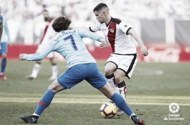 Pozo durante el partido ante el Atlético de Madrid. Fotografía: La Liga