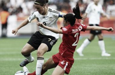 O jogo da fase de grupos foi 1 a 0 para o Canadá (Foto: Divulgação/Site oficial da DFB)