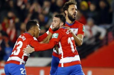 Imagen del último encuentro del Granada CF frente al Atlético de Madrid | Foto: Pepe Villoslada / Granada CF