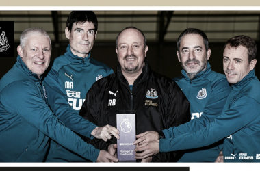 Benitez é o sétimo treinador a receber o premio nessa temporada (Reprodução /Newcastle)