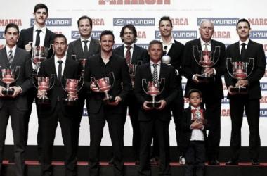 Todos los premiados en la Gala de Trofeos del Marca. | Foto: FC Barcelona