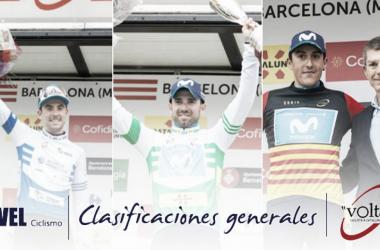 Volta a Catalunya 2018: clasificaciones generales