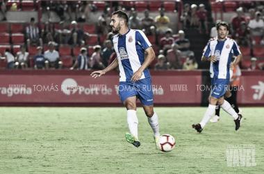 Borja Iglesias con la zamarra perica en pretemporada | Foto: Tomás Rubia - VAVEL