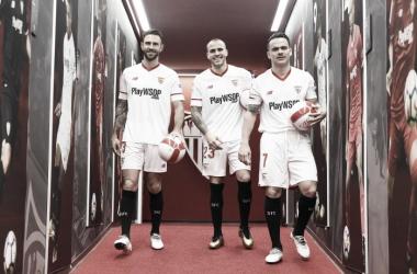 Layún, Sandro y Roque Mesa | Foto: Sevilla FC