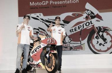 Márquez y Pedrosa presentan la Honda en Yakarta