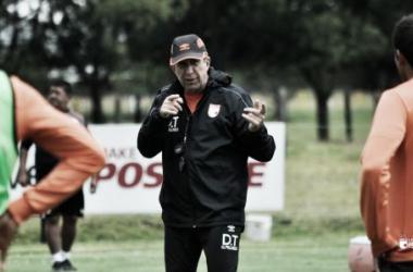 Gerardo Pelusso en la pretemporada del equipo. Foto: Independiente Santa Fe.