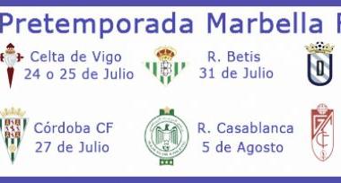 Rivales del Marbella FC en pretemporada