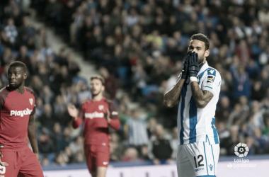 Willian José lamenta un fallo frente al Sevilla la pasada jornada (FOTO:// LaLiga)