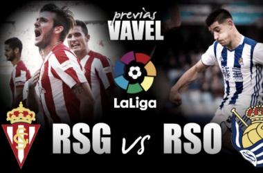 Sporting de Gijón - Real Sociedad: duelo de opuestos en El Molinón